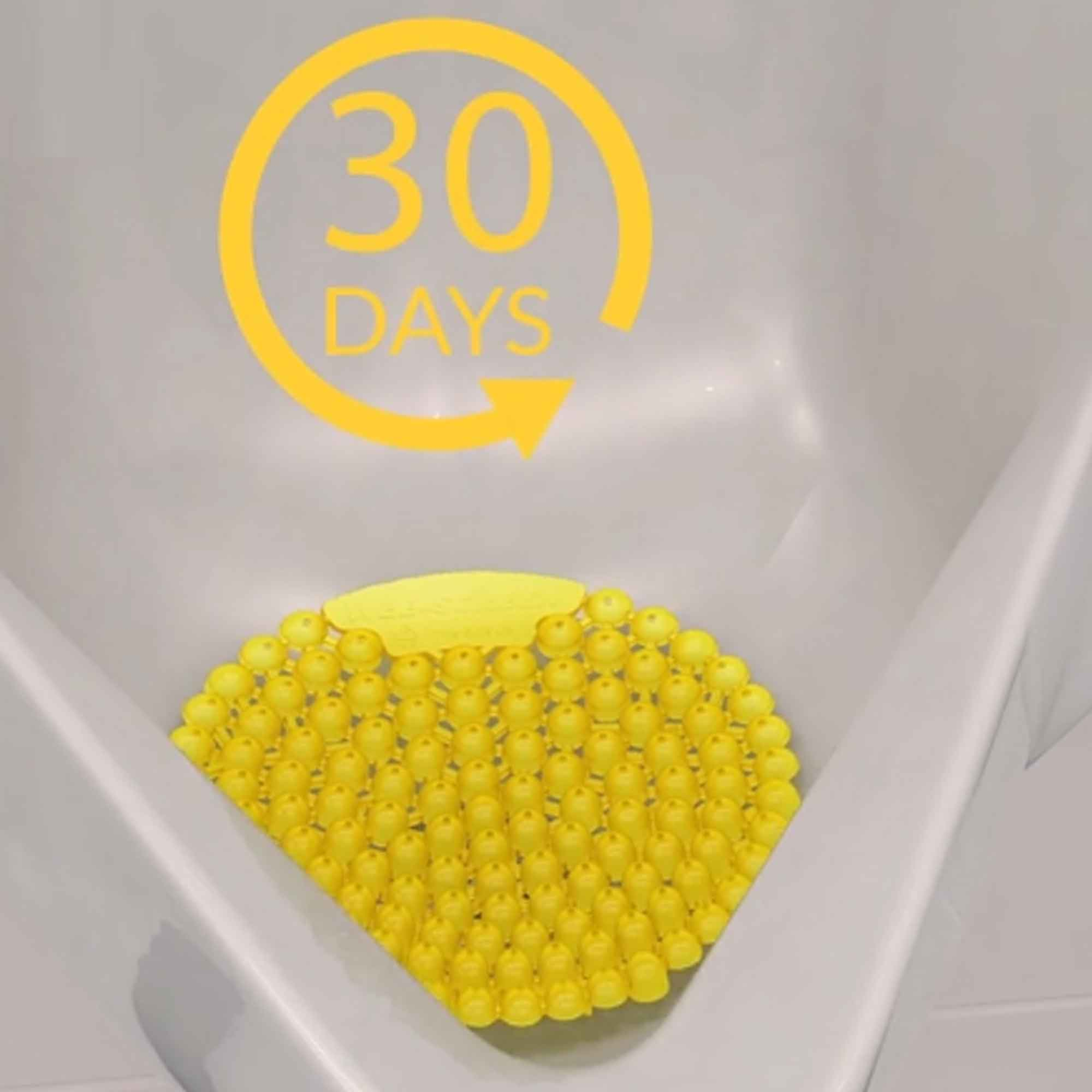 Wee-Screen® 30 Day Urinal Screen in urinal
