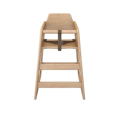 Babyminder High Chair Natural Wood