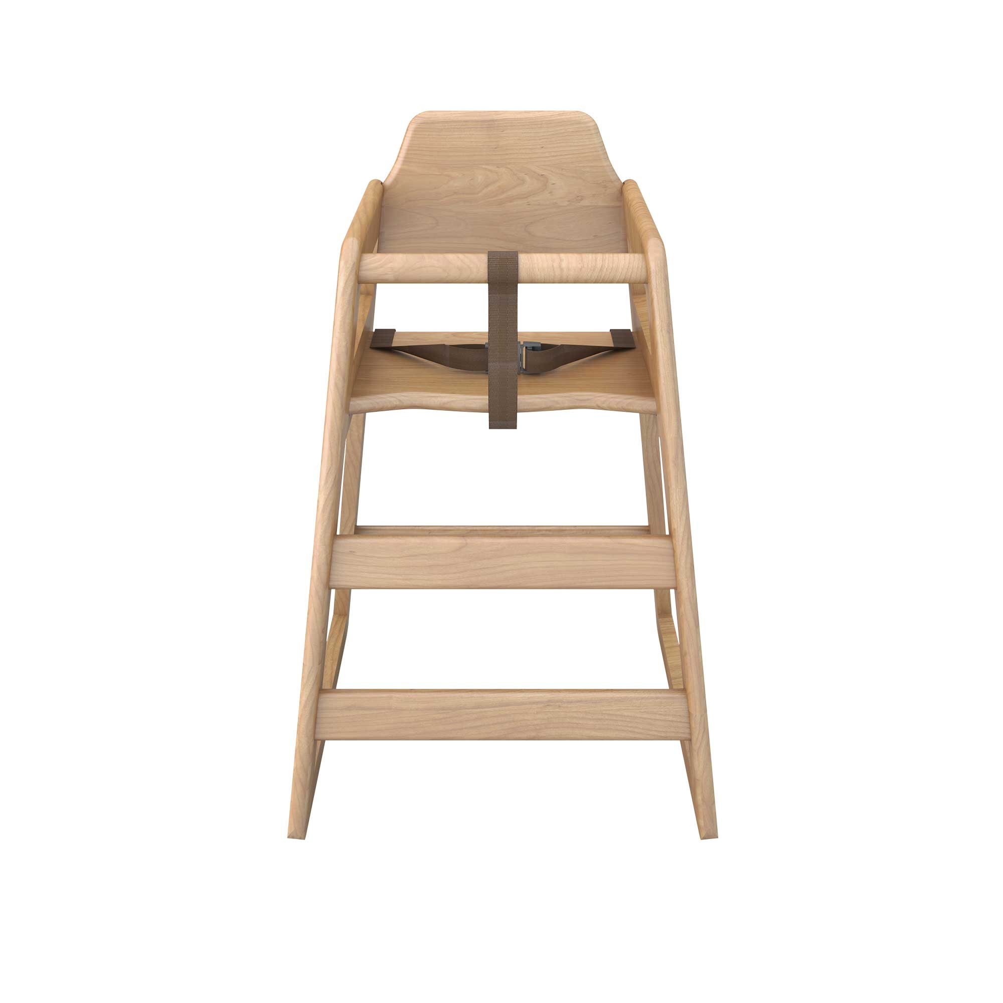 Babyminder High Chair Natural Wood