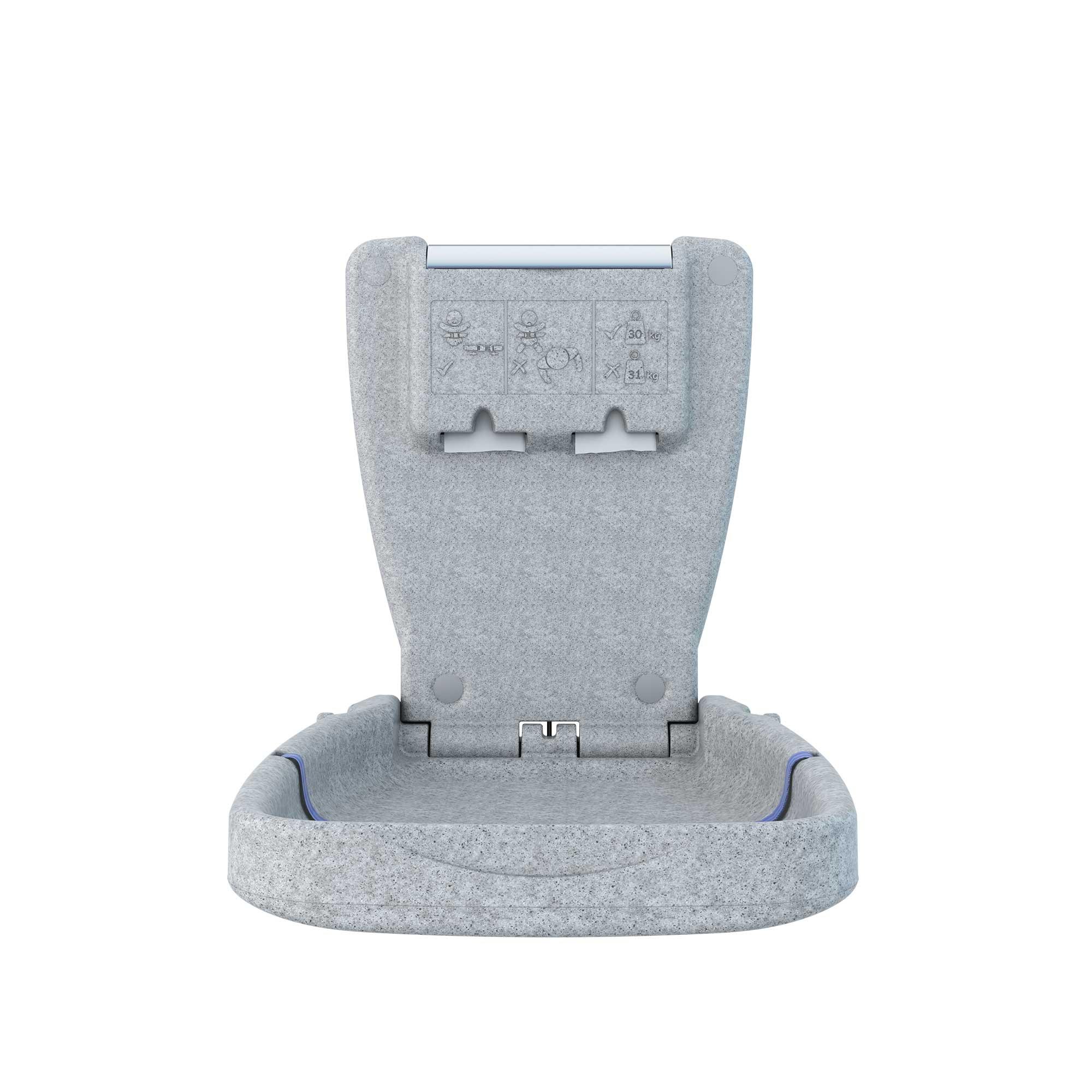Babyminder Baby Change Table - Vertical - Light Granite